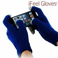 iFeel cimdi skārienjūtīgām ierīcēm (zili)
