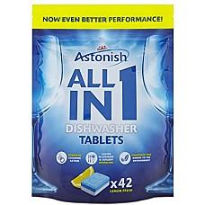 Tabletes trauku mazgāšanas mašīnām Astonish All in 1 (42 gab.)