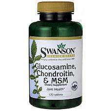 SWANSON Glukozamīns, Hondroitīns un MSM N120