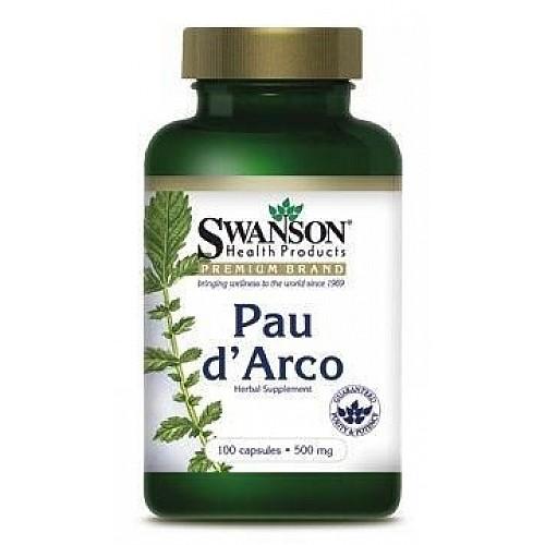SWANSON Pau dArco N100 Skudru koka miza - labam miegam un organisma aizsargspēju stiprināšanai