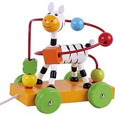 Wooden Walk a long Zebra(AB1973)Jumini attīstoš.rotaļlieta
