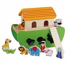 Wooden Noe's Arc (E01.034.1.1) Jumini attīstoš.rotaļlieta