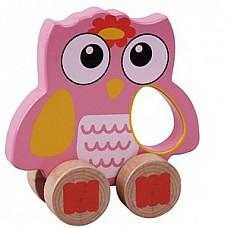 Wooden Owl (E01.029.1.1) Jumini attīstoš.rotaļlieta