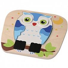 Wooden Owl puzzle (E01.023.1.1) Jumini attīstoša rotaļlieta
