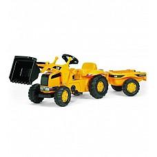 Pedāļu traktors ar kausu  un piekabi Rolly Kid CAT 023288  (2,5-5 gadiem) Vācija