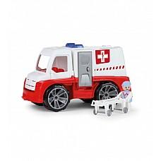 Ātras palidzības mašīna ar cilvēciņu un ratiņiem Truxx 29 cm kastē Čehija L04456