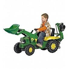 Pedāļu traktors ar diviem kausiem rollyJunior John Deere (3-8 gadiem) 811076