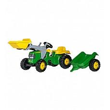 Pedāļu traktors ar kausu  un piekabi John Deere 023110 (2,5-5 gadiem) Vācija