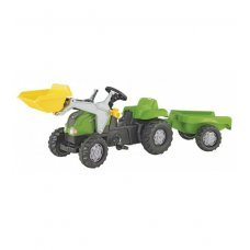 Bērnu traktors ar pedāļiem rollyKid ar kausu un  piekabi  (2,5-5 gadiem) 023134 Vācija