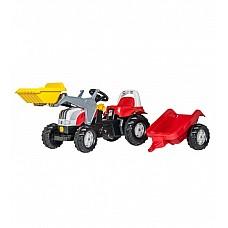 Bērnu traktors ar pedāļiem rollyKid Steyr ar kausu un  piekabi  (2,5-5 gadiem) 023936 Vācija