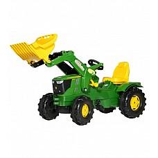 Traktors ar pedāļiem ar kausu rollyFarmtrac John Deere 6210R (3 - 8 gadiem ) Vācija 611096