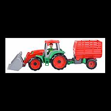 Traktors ar piekābi Truxx 55 cm  (kastē) L04428 Čehija
